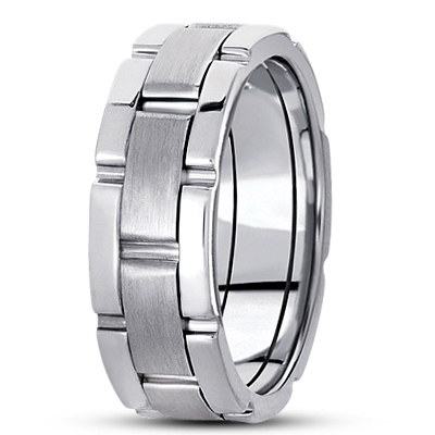 Watch Band Mens Wedding Comfort Ring