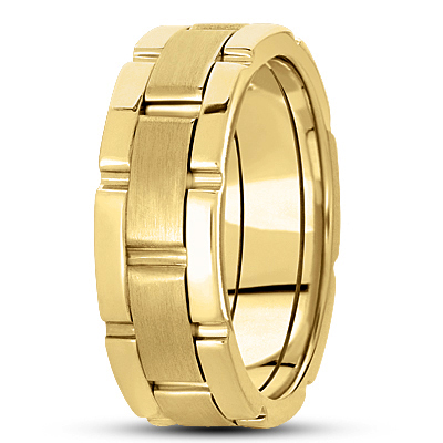 Watch Band Yellow Wedding Ring
