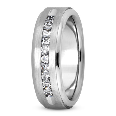 Princess Diamond Brushed Channel Band