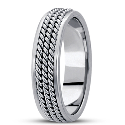 Triple Rope Men's Comfort Wedding Band