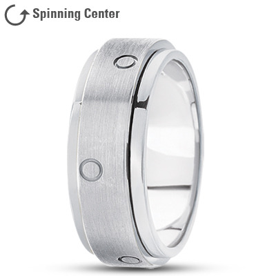 14K Spinner Wedding Band Satin Finish