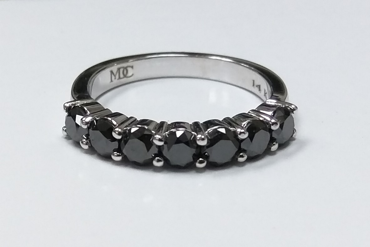Seven Stone Black Diamond Band