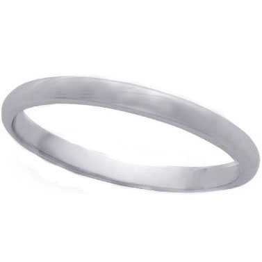 Comfort-Fit Wedding Ring in 14K White Gold (2.5 mm)