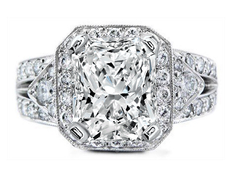Heirloom Diamond Vintage Style Platinum Engagement Ring Setting 1.26 tcw.